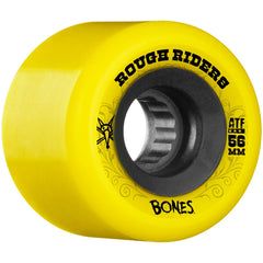 Bones Rough Rider ATF - Yellow - 56mm 80a - Skateboard Wheels (Set of 4)