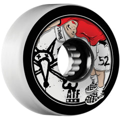 Bones Kids ATF - White - 52mm 80a - Skateboard Wheels (Set of 4)