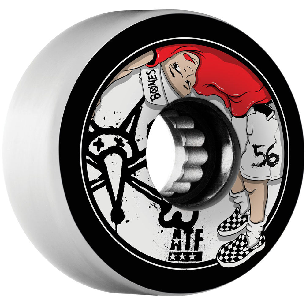 Bones Kids ATF - White - 56mm 80a - Skateboard Wheels (Set of 4)