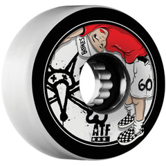 Bones Kids ATF - White - 60mm 80a - Skateboard Wheels (Set of 4)