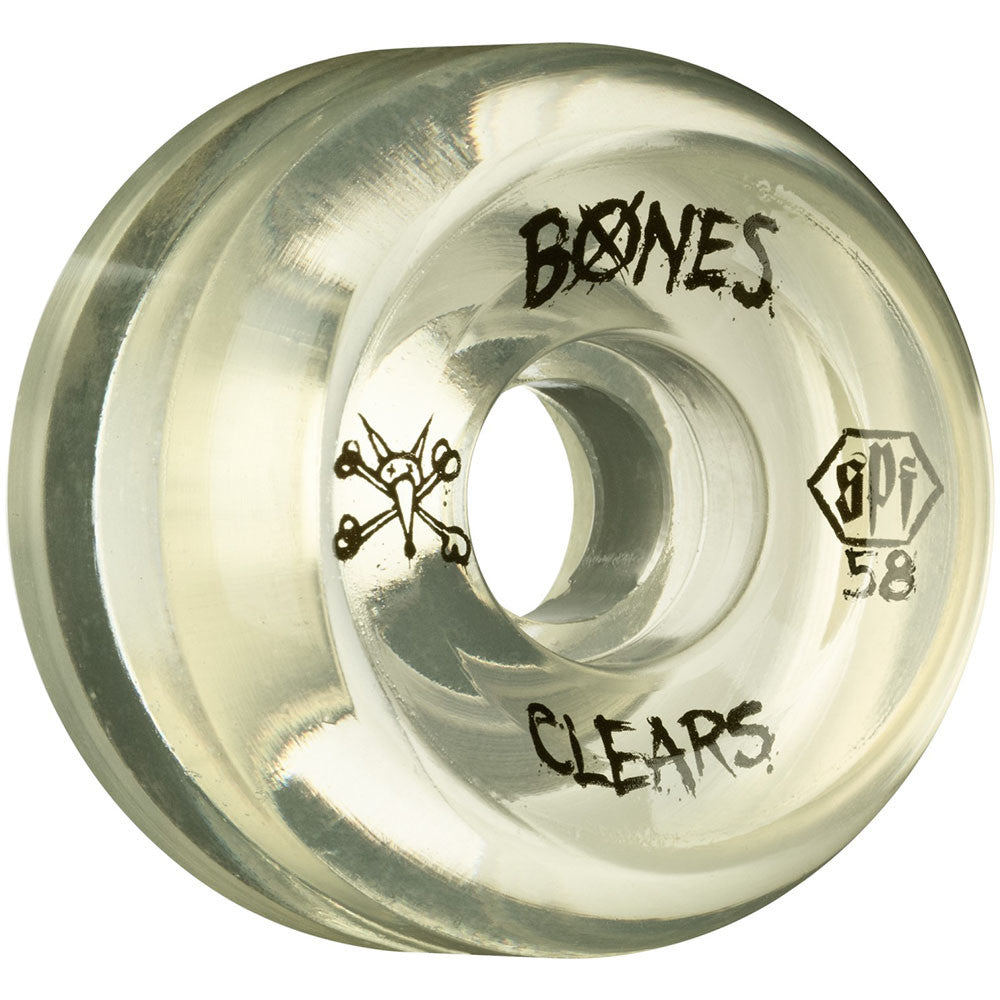 Bones Clear SPF - Natural - 58mm 84b - Skateboard Wheels (Set of 4)