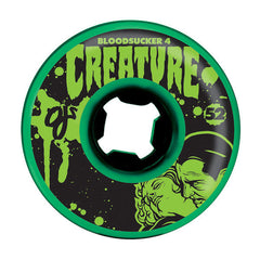 OJ Bloodsuckers 4 Creature - Green/Black - 52mm 97a - Skateboard Wheels (Set of 4)