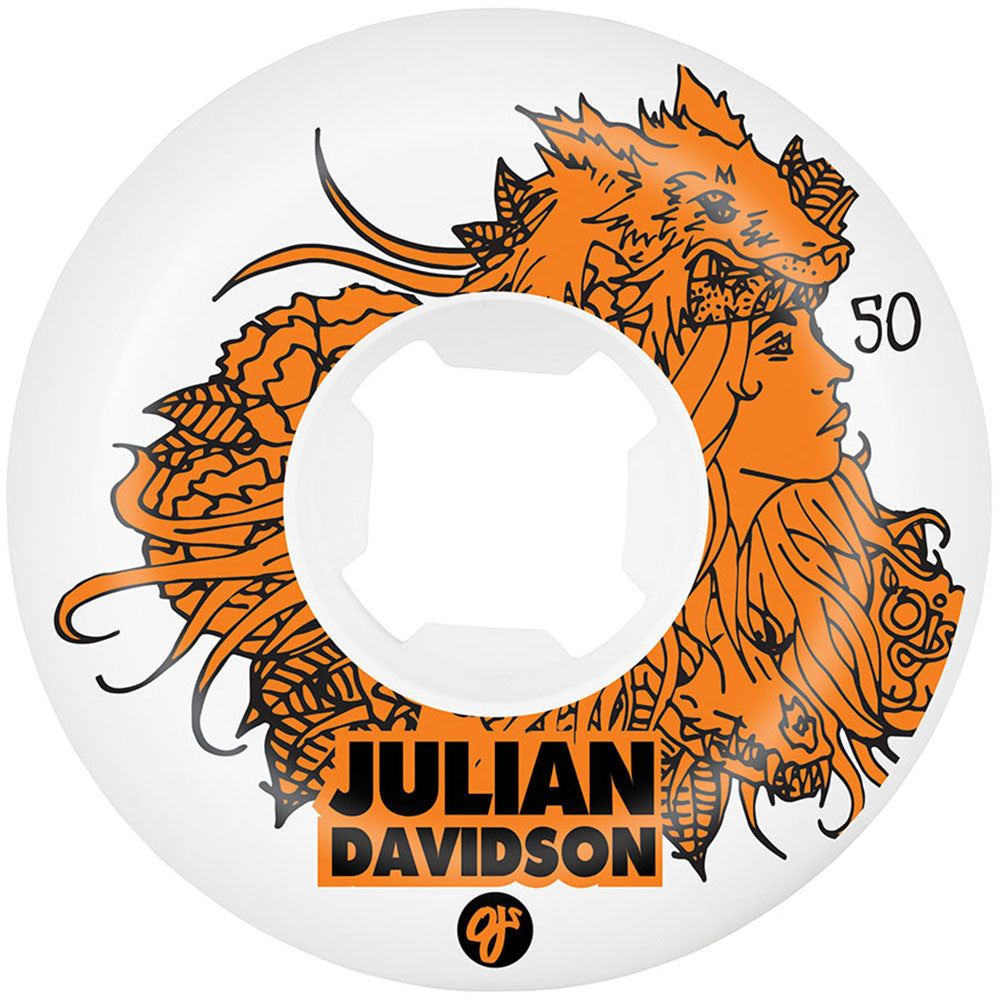 OJ Julian Davidson - White - 50mm 101a - Skateboard Wheels (Set of 4)