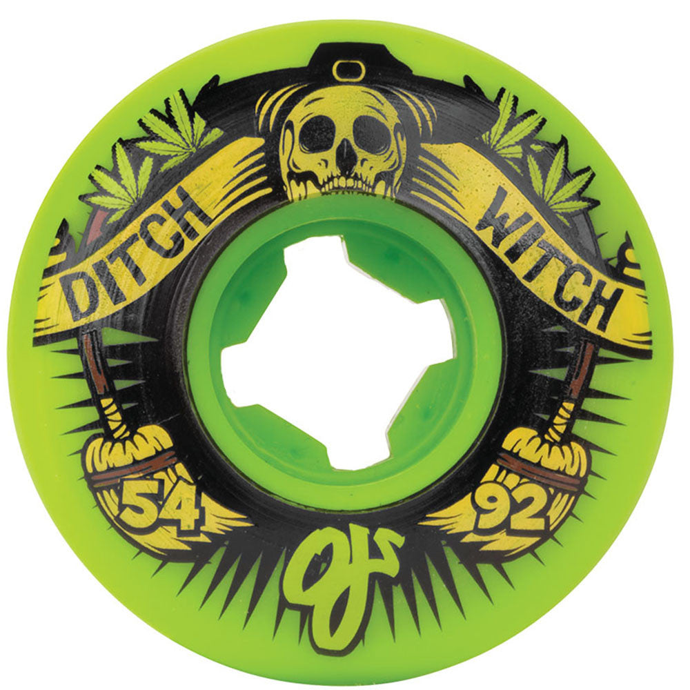 OJ Ditch Witch - Green - 54mm 92a - Skateboard Wheels (Set of 4)