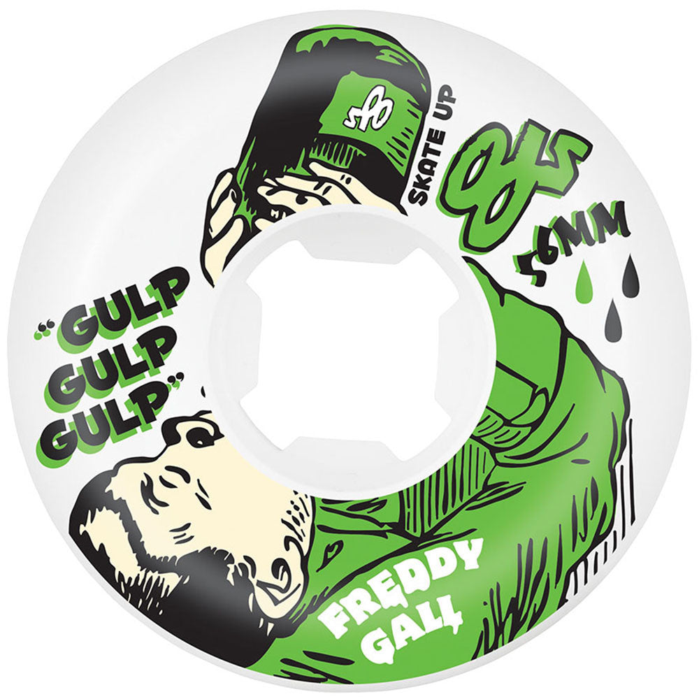 OJ Gall Getoz - White - 56mm 101a - Skateboard Wheels (Set of 4)