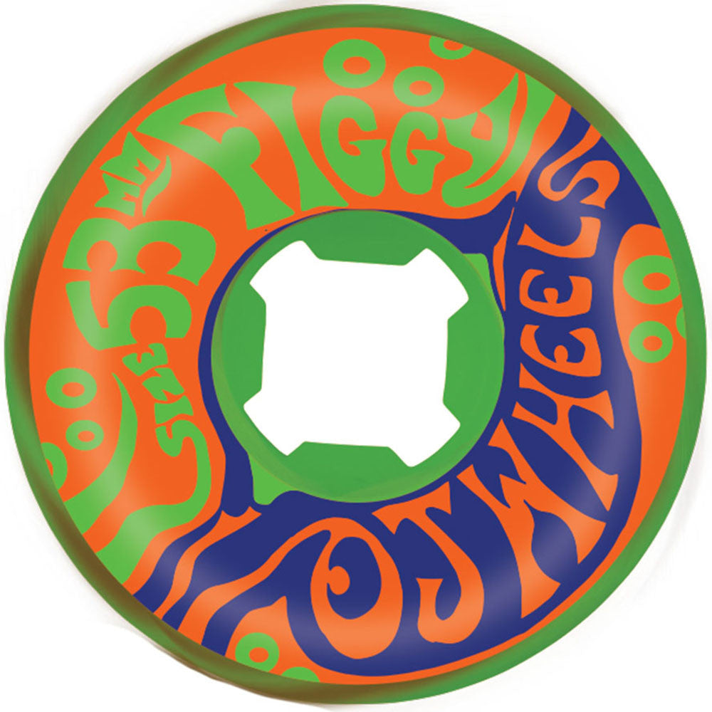OJ Figgy Psychedelic Freakouts - Green/Brown Swirl - 53mm 101a - Skateboard Wheels (Set of 4)