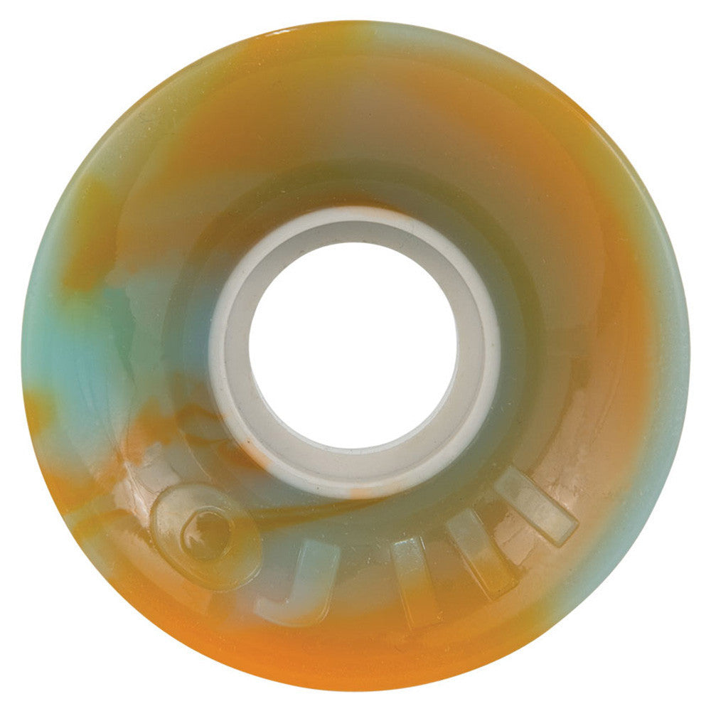 OJ Hot Juice - 60mm 78a - Orange/Blue Swirl - Skateboard Wheels (Set of 4)