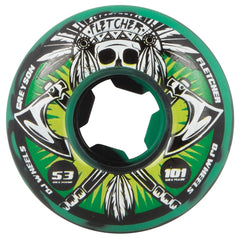 OJ Fletcher Tomahawk - 53mm 101a - Green/Black Swirl - Skateboard Wheels (Set of 4)