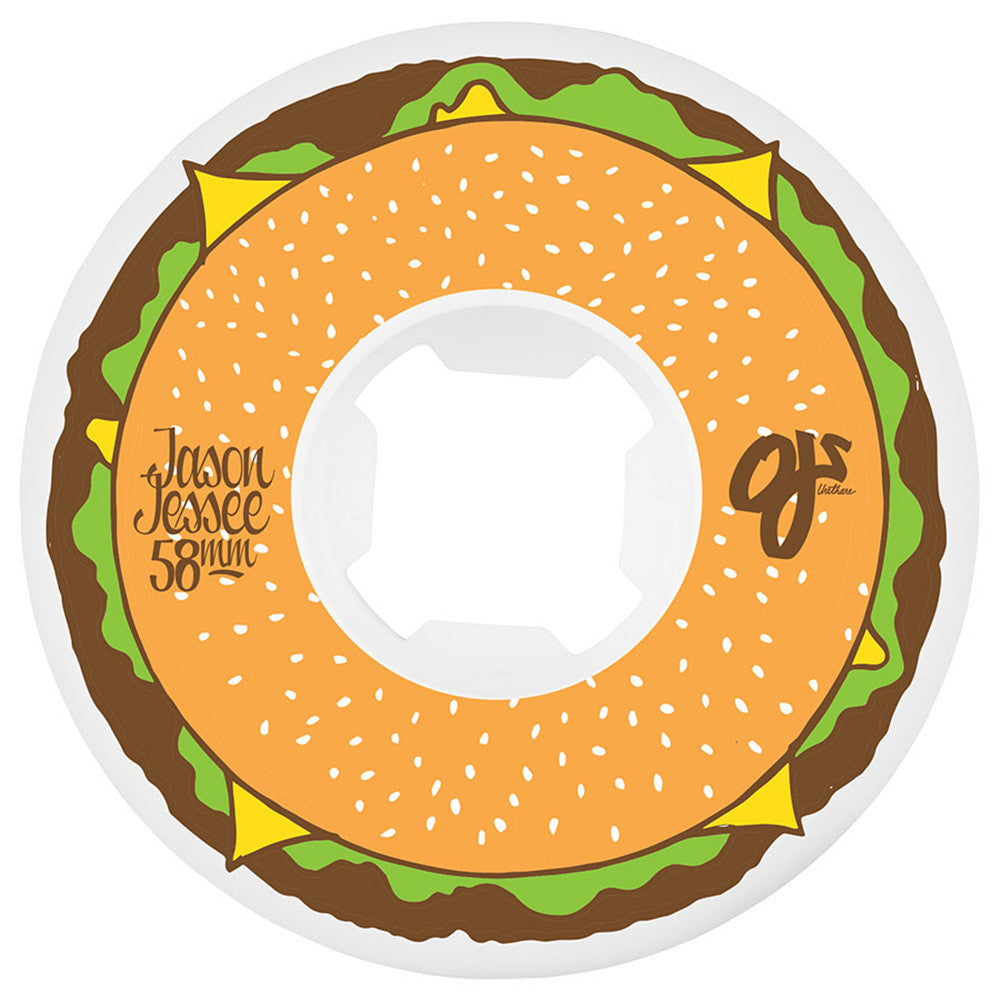 OJ Jessee Cheeseburgers - 58mm 101a - Multi/White - Skateboard Wheels (Set of 4)