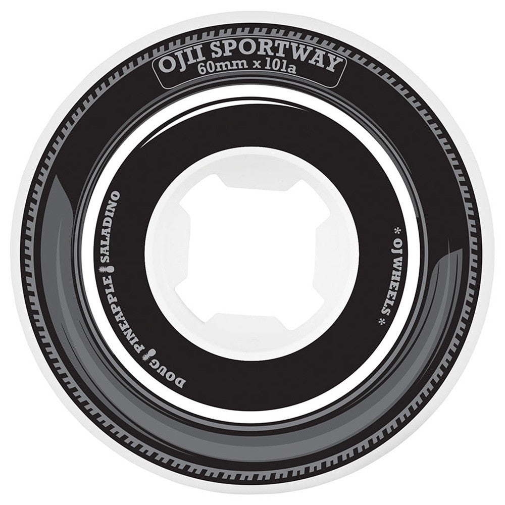 OJ Saladino Premiums - 60mm 101a - Black/White - Skateboard Wheels (Set of 4)