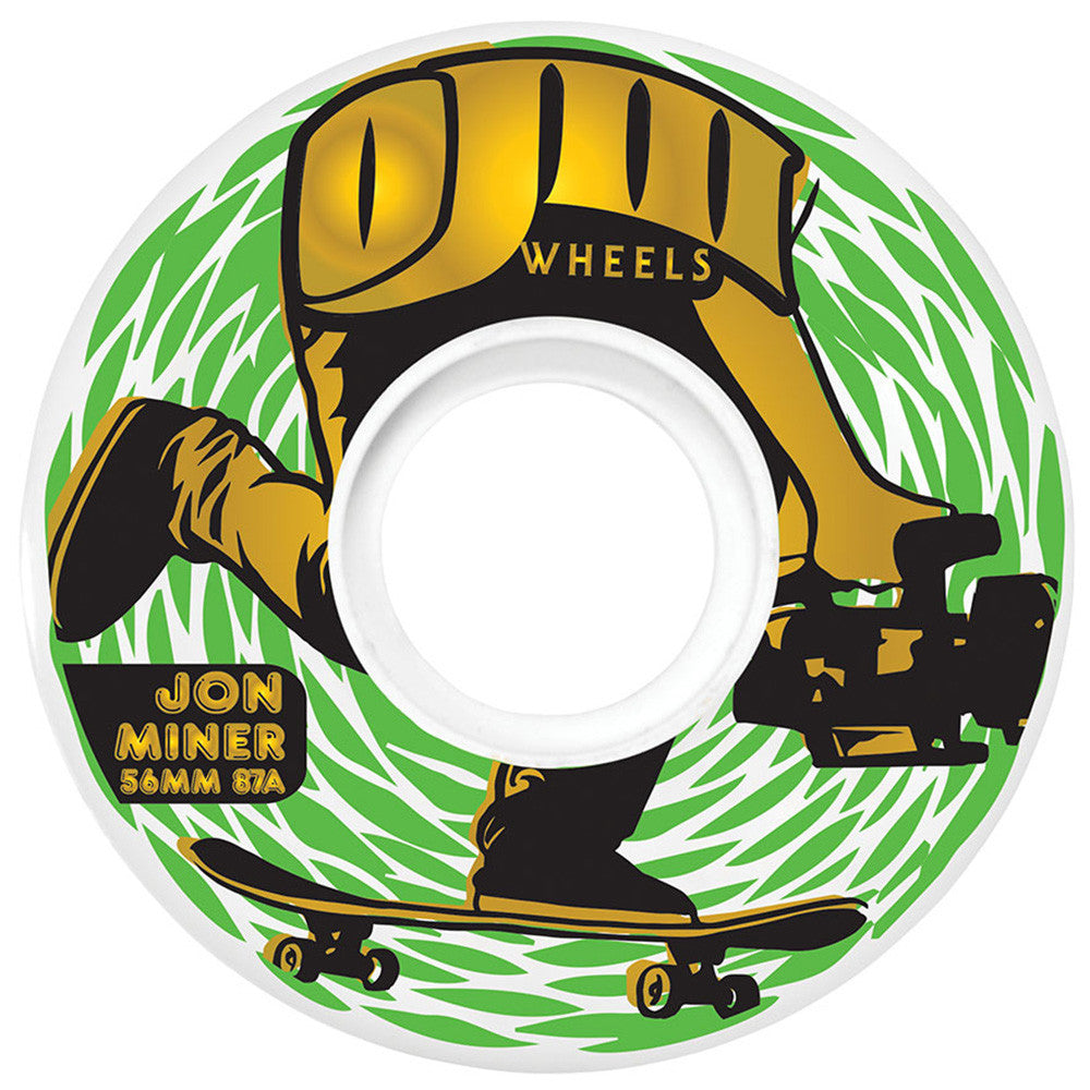 OJ Miner Keyframe - 56mm 87a - Multi/White - Skateboard Wheels (Set of 4)