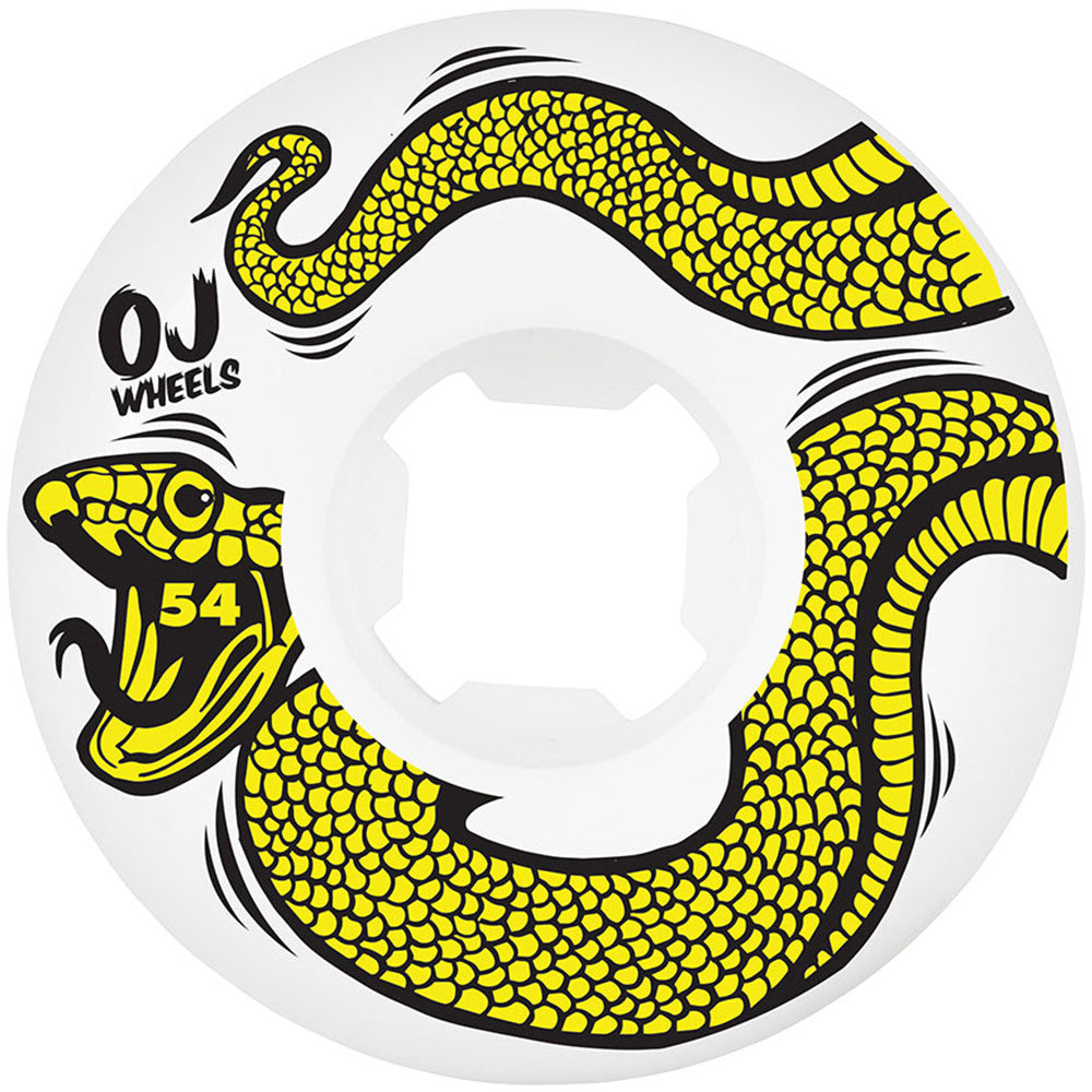 OJ Snakes EZ Edge Insaneathane - 54mm 101a - White - Skateboard Wheels (Set of 4)