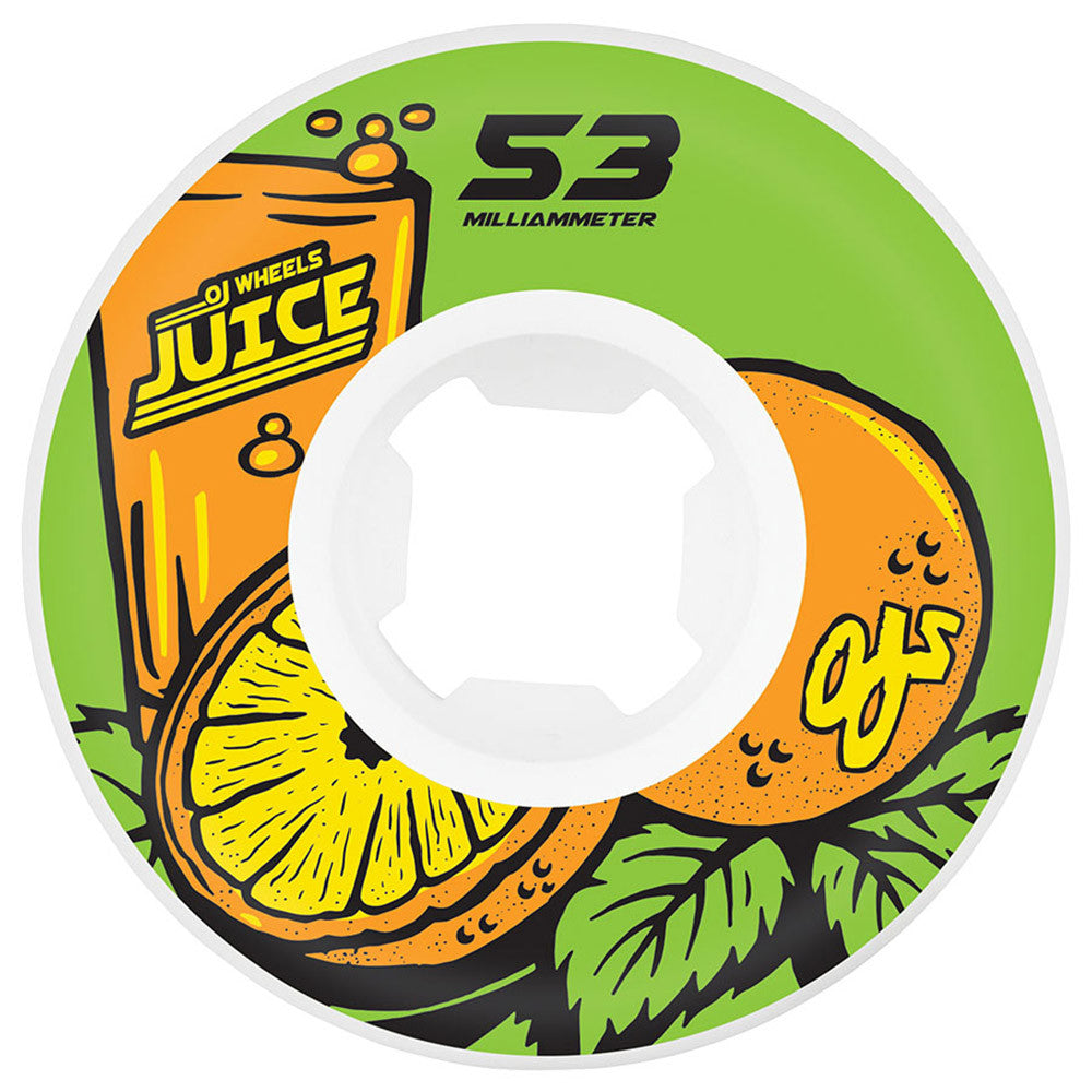 OJ Juice Insaneathane Hardline - 53mm 101a - Green - Skateboard Wheels (Set of 4)