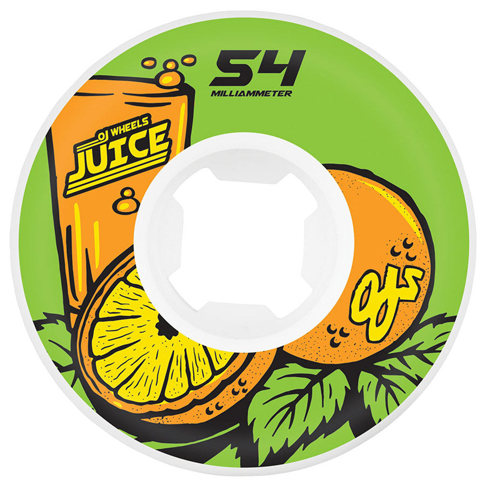 OJ Juice Insaneathane Hardline - 54mm 101a - Green - Skateboard Wheels (Set of 4)