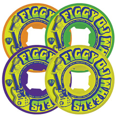 OJ Figgy Broken Licks EZ Edge - 53mm 101a - Multi - Skateboard Wheels (Set of 4)
