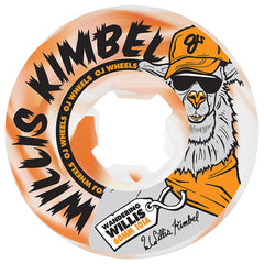 OJ Kimbel Wandering Willis - 60mm 101a - White/Orange Swirl - Skateboard Wheels (Set of 4)