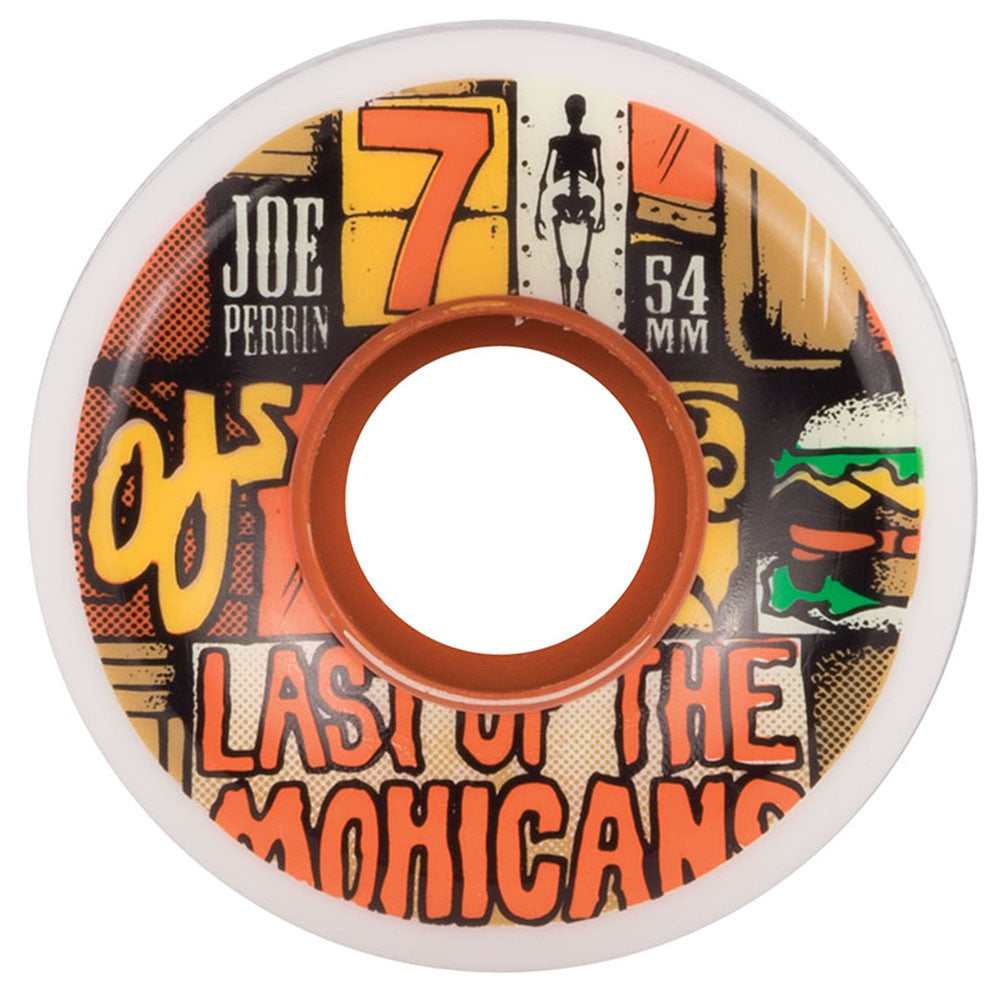 OJ Keyframe Perrin Last Of The Mohicans - 54mm 87a - White/Multi - Skateboard Wheels (Set of 4)