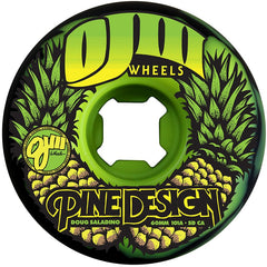 OJ Saladino Pine Swirl Original - 60mm 101a - Black/Green - Skateboard Wheels (Set of 4)