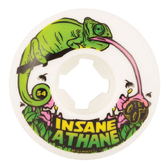 OJ Lizards Insaneathane EZ Edge - 54mm 101a - White - Skateboard Wheels (Set of 4)