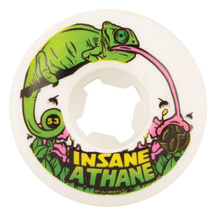 OJ Lizards Insaneathane EZ Edge - 53mm 101a - White - Skateboard Wheels (Set of 4)