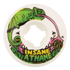 OJ Lizards Insaneathane EZ Edge - 52mm 101a - White - Skateboard Wheels (Set of 4)