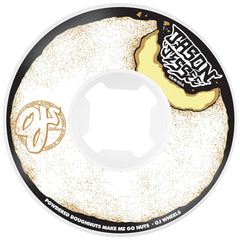 OJ Jessee Go Nuts Original - 58mm 101a - White/Black - Skateboard Wheels (Set of 4)