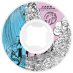 OJ Johnson Abstract Original EZ Edge - 53mm 101a - White - Skateboard Wheels (Set of 4)