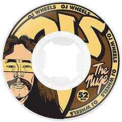 OJ Nuge Cut And Paste Original - 52mm 101a - White/Brown - Skateboard Wheels (Set of 4)