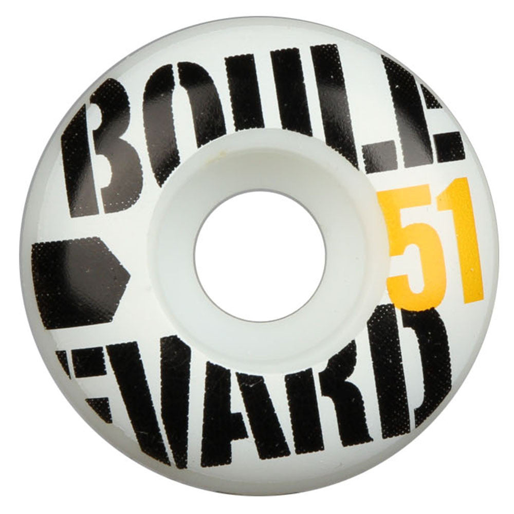 BLVD Bold - White - 51mm - Skateboard Wheels (Set of 4)