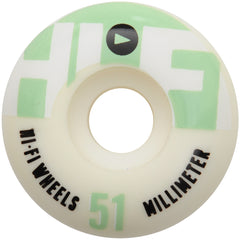 Stereo HiFi Logo - White - 51mm - Skateboard Wheels (Set of 4)