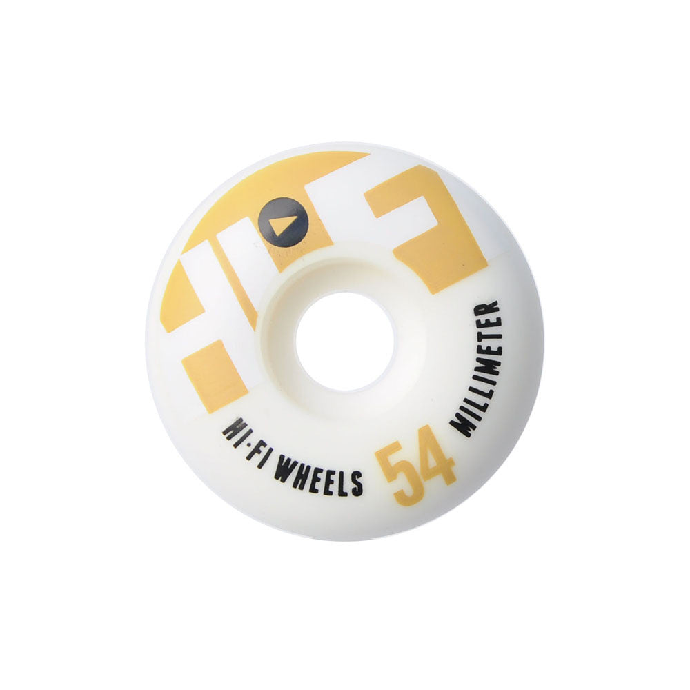 Stereo HiFi Logo - White - 54mm - Skateboard Wheels (Set of 4)