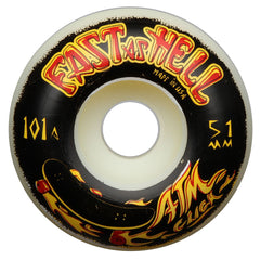 ATM Fast As Hell PP - White - 51mm - Skateboard Wheels (Set of 4)