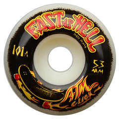 ATM Fast As Hell PP - White - 53mm - Skateboard Wheels (Set of 4)
