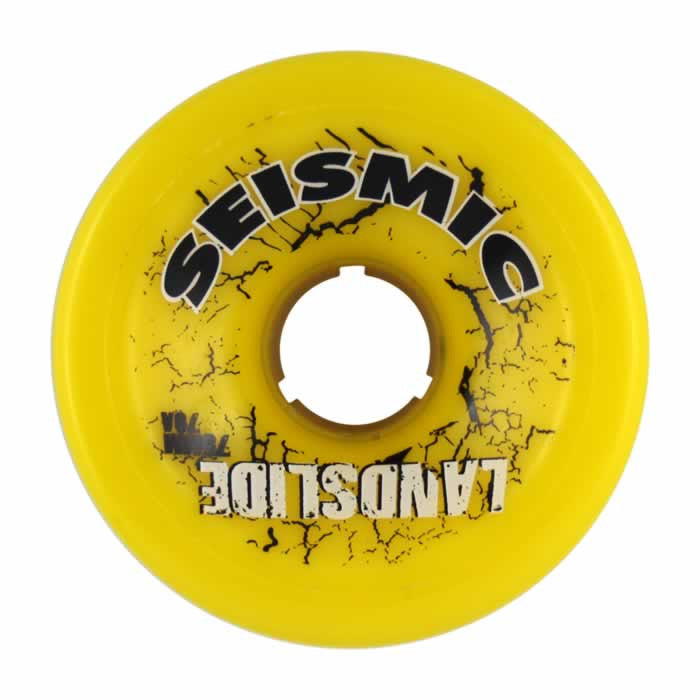 Seismic Landslide - Yellow - 75mm 79a - Skateboard Wheels (Set of 4)