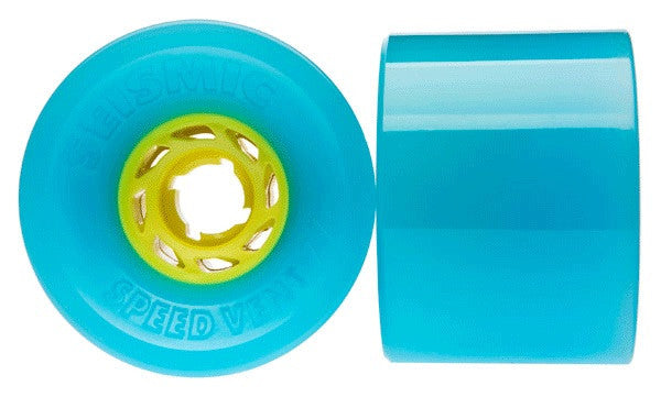 Seismic Speed Vent - Blue - 77mm 80a - Skateboard Wheels (Set of 4)