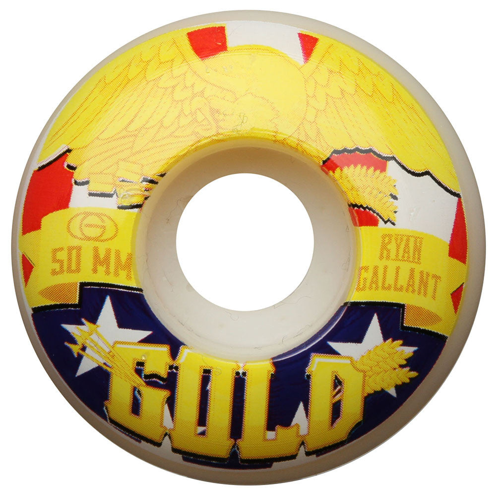 Gold Gallant Liberty - White - 50mm - Skateboard Wheels (Set of 4)