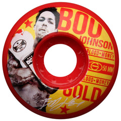 Gold Johnson Fight - Red - 50mm - Skateboard Wheels (Set of 4)