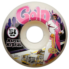 Gold McBride Super Fly - White - 51mm - Skateboard Wheels (Set of 4)