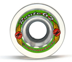 Kryptonics Route - Clear - 62mm - Skateboard Wheels (Set of 4)