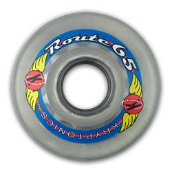 Kryptonics Route - Clear - 65mm - Skateboard Wheels (Set of 4)