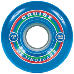 Kryptonics Cruise - Blue - 65mm 78a - Skateboard Wheels (Set of 4)