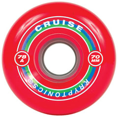 Kryptonics Cruise - Red - 70mm 78a - Skateboard Wheels (Set of 4)