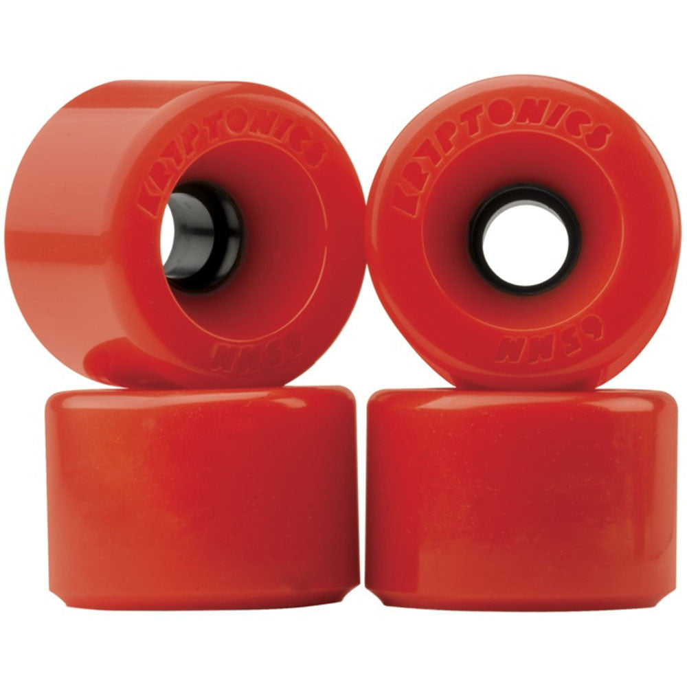 Kryptonics Star Trac - Red - 55mm - Skateboard Wheels (Set of 4)