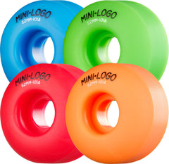 Mini Logo C-Cut Wheel - Assorted - 52mm 101a - Skateboard Wheels (Set of 4)