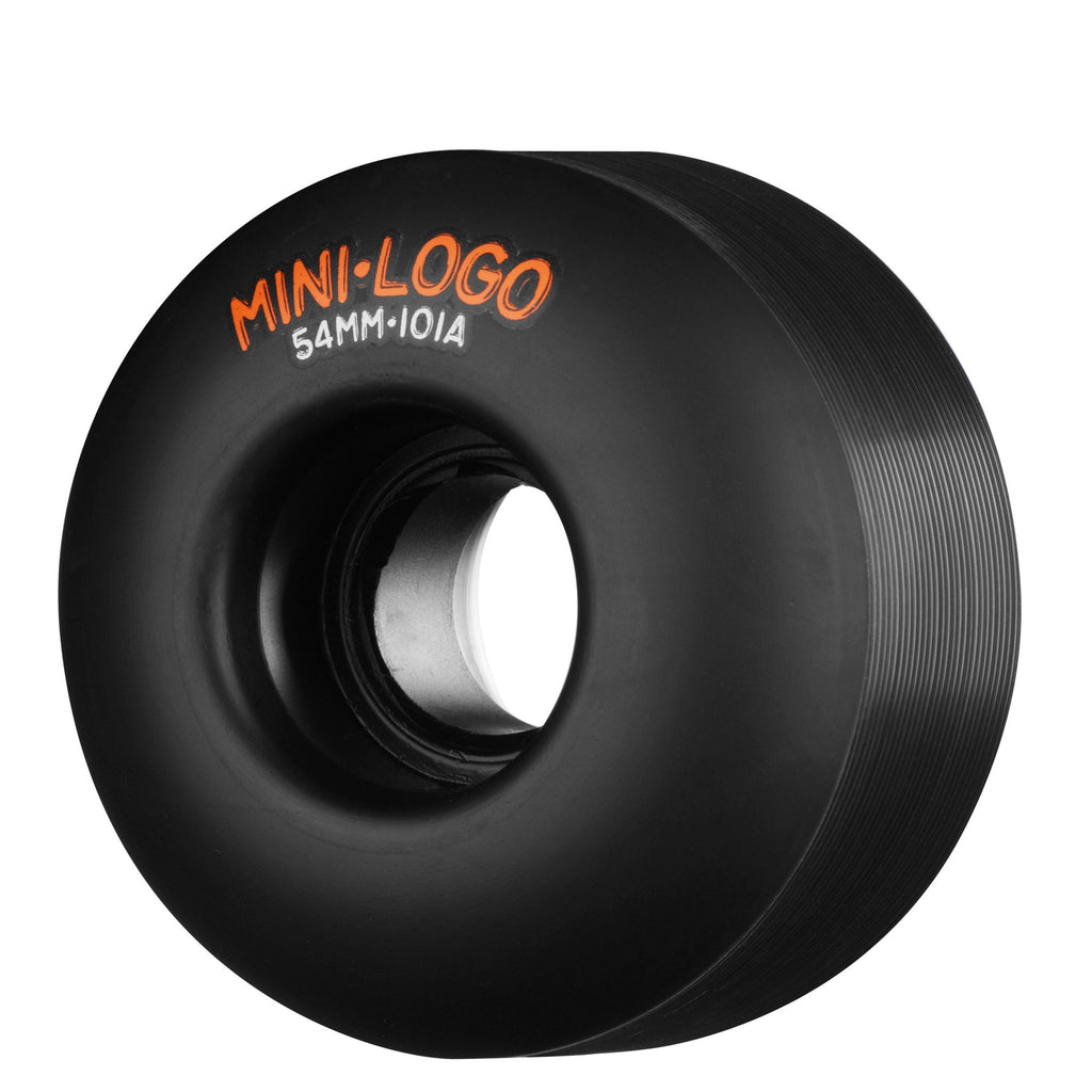 Mini Logo C-Cut Wheel - Black - 54mm 101a - Skateboard Wheels (Set of 4)