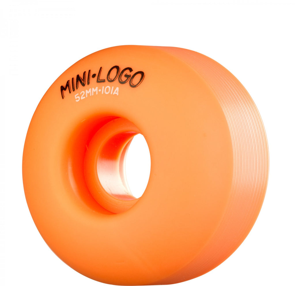 Mini Logo C-Cut Wheel - 52mm 101a - Orange - Skateboard Wheels (Set of 4)
