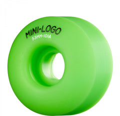Mini Logo C-Cut Wheel - 53mm 101a - Green - Skateboard Wheels (Set of 4)