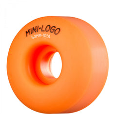 Mini Logo C-Cut Wheel - 53mm 101a - Orange - Skateboard Wheels (Set of 4)