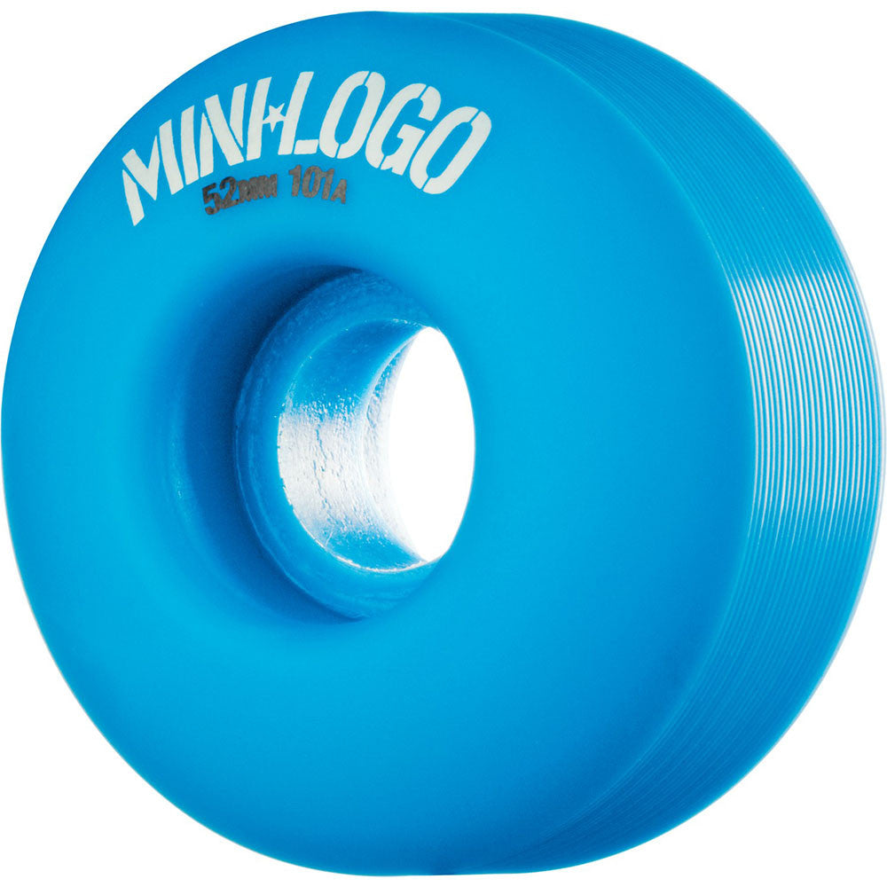 Mini Logo C-Cut Wheel - Blue - 52mm 101a - Skateboard Wheels (Set of 4)