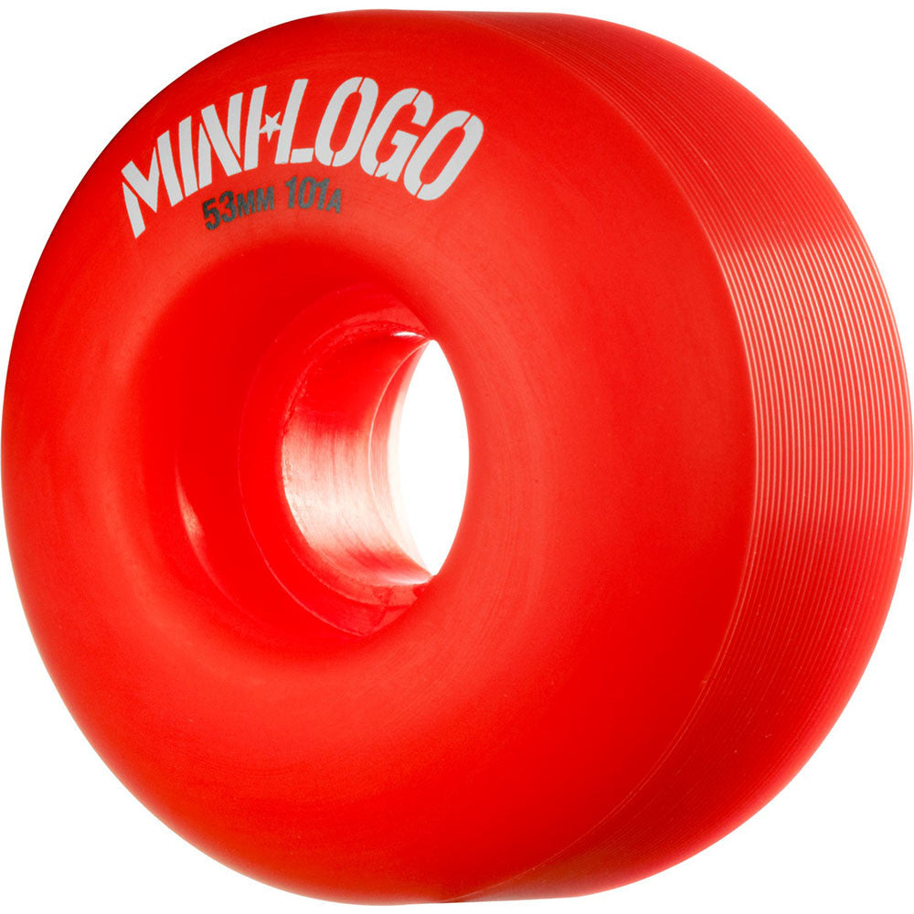 Mini Logo C-Cut Wheel - Red - 53mm 101a - Skateboard Wheels (Set of 4)